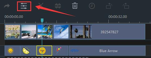 How to Adjust Element Color in Windows Movie Maker step 2