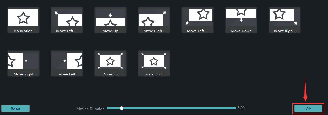 How to Set Motions for Elements in Windows Movie Maker step 6