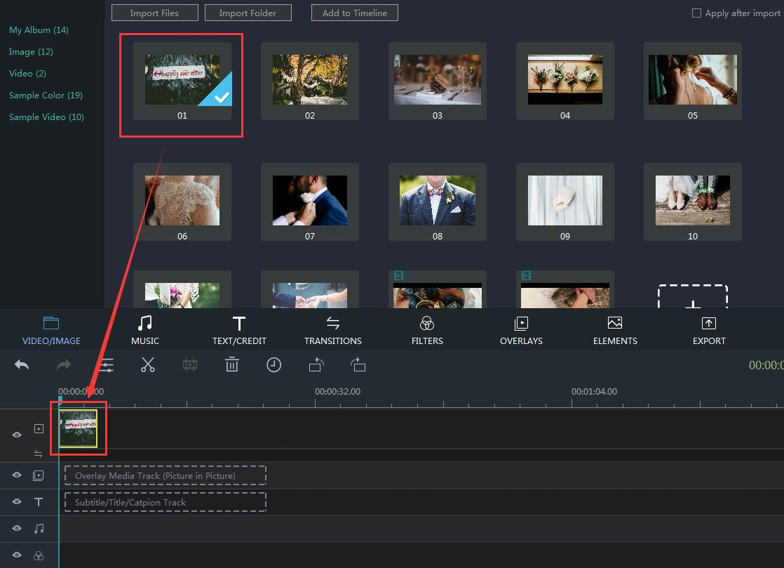 How to Add Clips in Window Movie Maker step 2