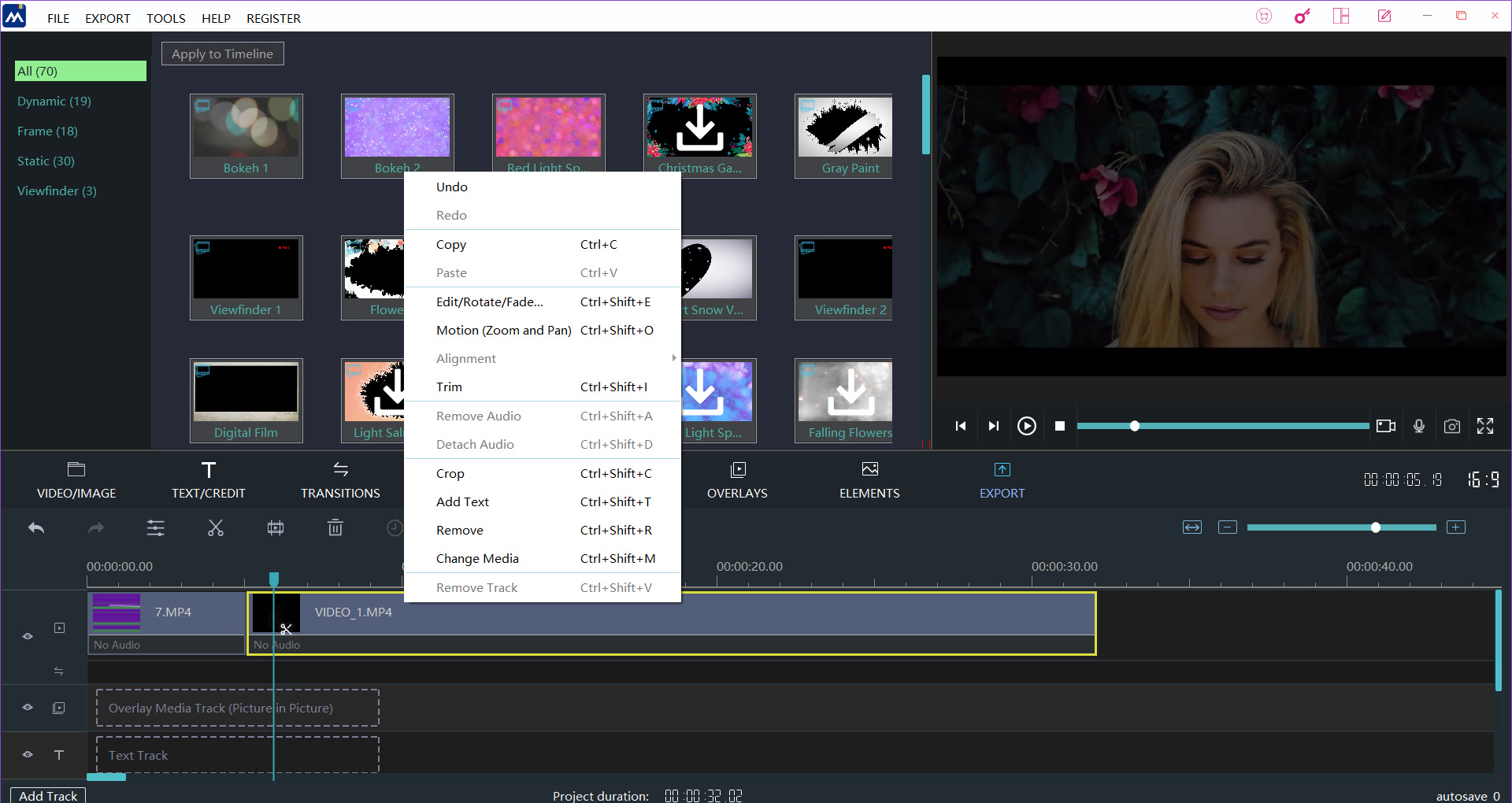 How to Pan and Zoom video in Window Movie Maker step 1