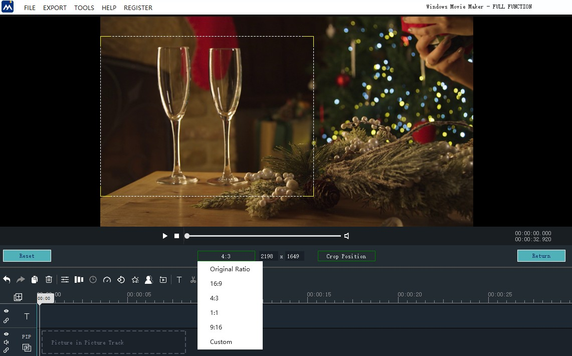 How to Crop a video in Windows Movie Maker - Manual | MovieZilla